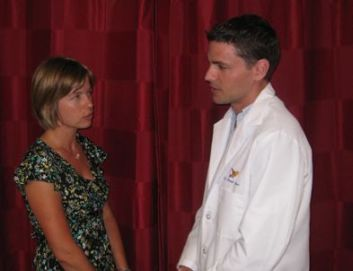 Dr Brown discusses Meniere's with a sufferer